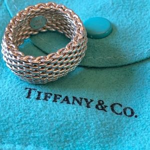 Tiffany & Co. Sterling Silver Mesh Ring Size 6